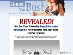 Natural Breast Enlargement - Boost Your Bust - 75% & $4.29 Epc''s優惠券
